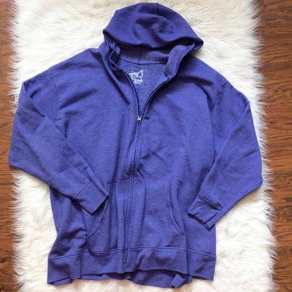 b2fb55efa99 Just My Size Tops - JMS Hooded zip up purple sweatshirt